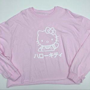 Hello Kitty Japan Long Sleeve Crop Top Size XXL